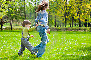 Brother And Sister Having Fun Royalty Free Stock Image - Image: 19714286