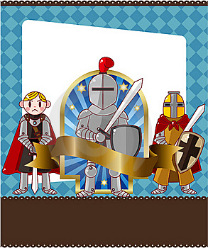 Cartoon Knight Card Royalty Free Stock Images - Image: 19714399