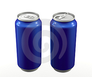 Cans Blue Royalty Free Stock Images - Image: 19714939