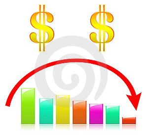 Color Ful Business Graph On Scowl Stock Image - Image: 19715171