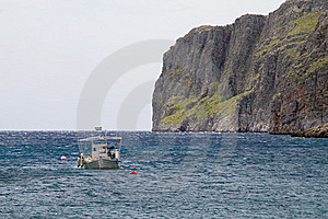 Boat And Cliffs Stock Image - Image: 19715811