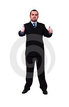 Business Man With Thumbs Up Royalty Free Stock Images - Image: 19716319