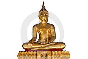 Buddha Image On The White Background Royalty Free Stock Photography - Image: 19717387