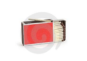 Matchbox On White Stock Photo - Image: 19720040