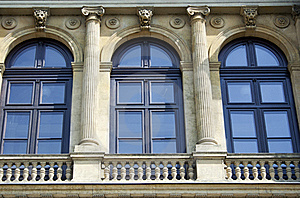 Windows With Archways And Colonnades, Raw Stock Photography - Image: 19720882