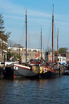 Old Ships In Gouda, Netherlands Stock Image - Image: 19721101