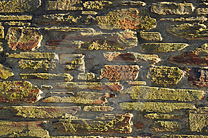 Background Texture Of Sunset Lit Stone Wall Royalty Free Stock Photos - Image: 19721758
