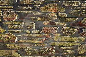 Zonsondergang Aangestoken Steenmuur: Achtergrond, Textuur, Tegel Royalty-vrije Stock Foto's - Afbeelding: 19721758