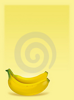 Bananas In Yellow Background Royalty Free Stock Image - Image: 19722686