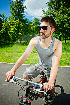 Young Man Cyclist Stock Photos - Image: 19722723