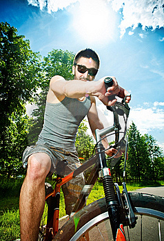 Young Man Cyclist Royalty Free Stock Image - Image: 19722756