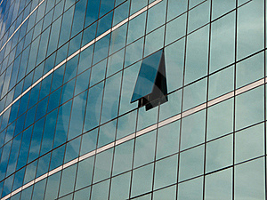 Moderne Blauwe Glasmuur Van Wolkenkrabber Stock Foto - Afbeelding: 19722960