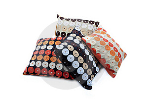 Four Cushions With Texture Stock Photography - Image: 19723312