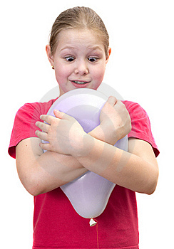 The Girl With A Balloon Stock Photo - Image: 19723890