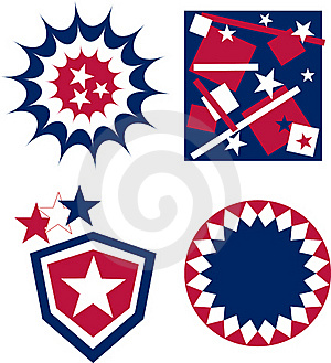 4th Of July Independence Day Badge American Flag Royalty Free Stock Images - Image: 19724529
