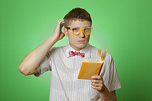 Young Man Bookworm Reading Royalty Free Stock Photo - Image: 19725285