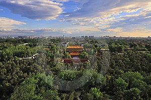 Beijing City Central Axis Skyline Sunrise Royalty Free Stock Photos - Image: 19726348
