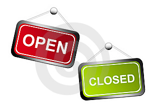 Open And Closed Signs Royalty Free Stock Image - Image: 19727196