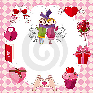 Cartoon Love Card Royalty Free Stock Photo - Image: 19727785
