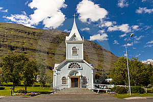 Wooden Church In Seydisfjordur Iceland Stock Photography - Image: 19729852