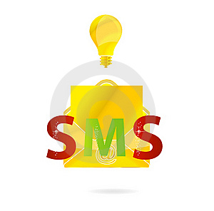 Gold Send Mail And Bolb Sign Stock Photography - Image: 19730692