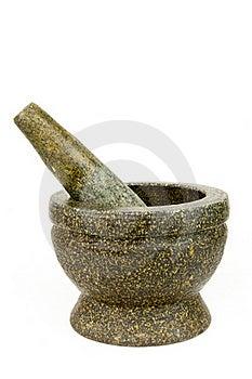 Stone Mortar And Pestle Stock Photos - Image: 19732583