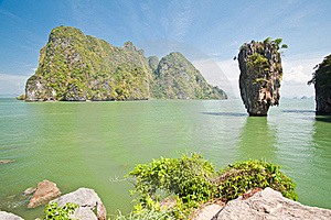 James Bond Island Or Khao Tapu Island Royalty Free Stock Photos - Image: 19734608