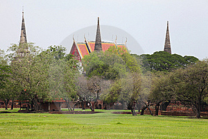 Ancient City In Ayutthaya Province Of Thailand Royalty Free Stock Image - Image: 19735216