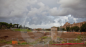Excavations In Rome Royalty Free Stock Photo - Image: 19735425