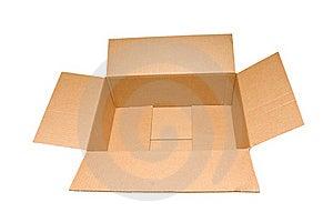 Short Wide Empty Box Stock Image - Image: 19735821