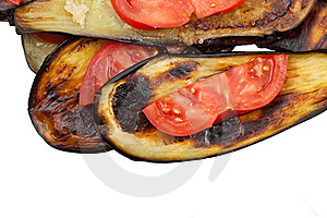 Fried Eggplants Stock Photo - Image: 19736660