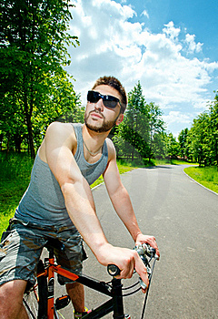 Young Man Cyclist Stock Photography - Image: 19738112