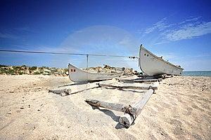 Old Fisherman Boat On Sea Shore Royalty Free Stock Image - Image: 19739396