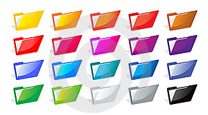 File Folders Color Royalty Free Stock Photo - Image: 19739425