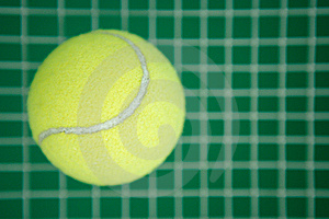 Tennis Ball On A Grid Stock Photo - Image: 19743600
