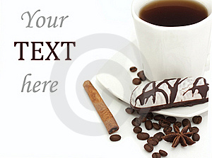 Cup Of Coffee And Biscuits Stock Photo - Image: 19750060