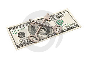 Keys And One Hundred Dollars Royalty Free Stock Images - Image: 19751319
