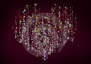 Color Circles Heart Royalty Free Stock Photos - Image: 19752998