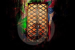 门神仙的尾标 免版税库存照片 - 图片: 19753105