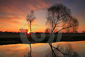 Sunset On The River Royalty Free Stock Photo - Image: 19753445
