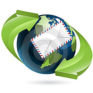 Globe And Envelope Royalty Free Stock Photo - Image: 19754255