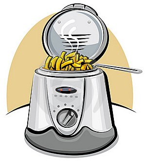 Deep Fryer And Chips Royalty Free Stock Image - Image: 19758746