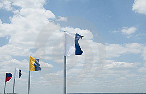 Flags In The Wind Stock Image - Image: 19763331