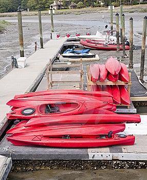 Kayaks Royalty Free Stock Photography - Image: 19763347