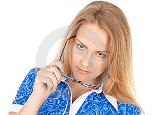 Interested Business Woman Stock Photo - Image: 19765150