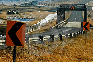 Bridge On The Alberta Plains Royalty Free Stock Image - Image: 19765376