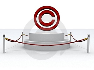 3d Copyright Sign Stock Photography - Image: 19765392