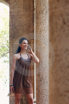 Woman Talking On Cellphone Stock Image - Image: 19766121