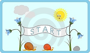 Snails Race Royalty Free Stock Images - Image: 19767229
