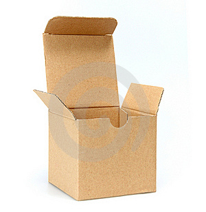 Open Cardboard Empty Box Royalty Free Stock Images - Image: 19768739